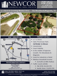 +/- 1 Acre in Growing Market